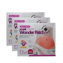 15Pcs MYMI Wonder karcsúsító hüvely Belly Abdomen Fogyás Zsírégető Slim Patch Cream Navel Stick Hatáserősség Erős masszázs C322