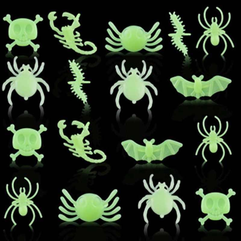 パック 0f 約 12-14 リング新ハロウィンダンスパーティーアクセサリーおもちゃ発光昆虫リングハロウィン用品ホットリング