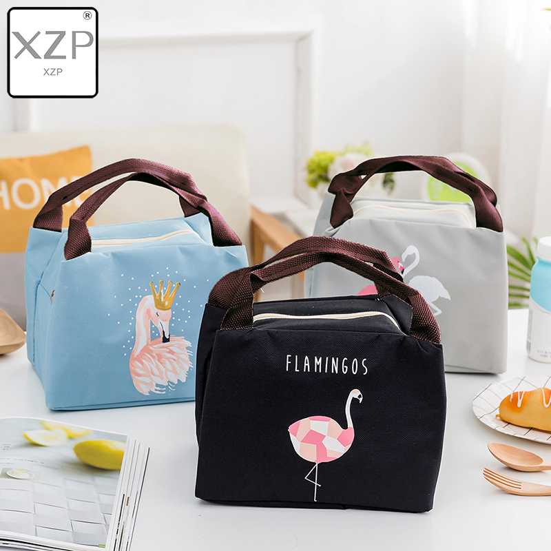 XZP Hot Animal Flamingo Lunch Bag Girl Portable Insulated Thermal Food Picnic Lunch Bags Women Kids Men Cooler Lunch Box Bag