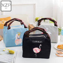 XZP Hot Animal Flamingo Lunch Bag Girl Portable Insulated Thermal Food Picnic Bags Women kids Men Cooler Box