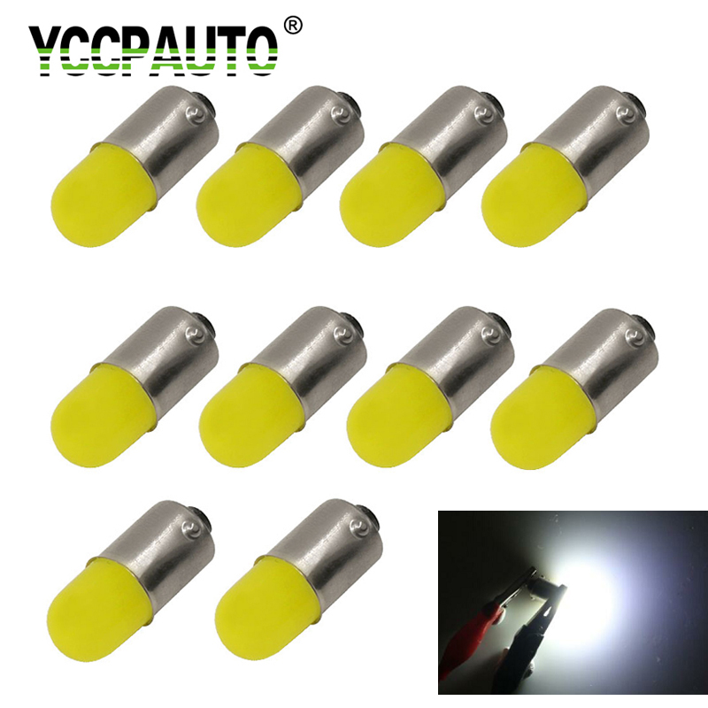 10Pcs T11 BA9S H6W LED Car Light Bulbs 3D COB T4W LED Auto Car Interior Light Dome Reading Dashboard Lamp Cold White 6500K 12V