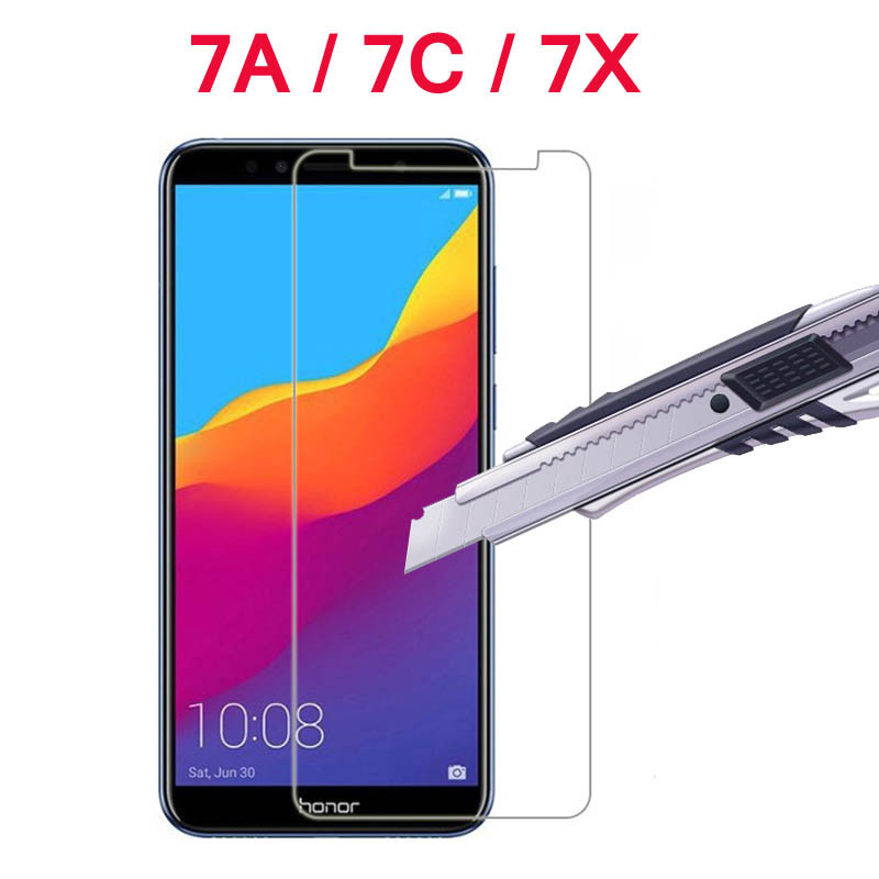 Honor 7A Glass 9H Tempered Glass For Huawei Honor 7A Pro 7X 7C Glas Screen Protector On AUM-L29 DUA-L22 Cover Film Protection