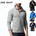 High Quality Men's POLO Shirts Full Sleeve Turn-down collar Male Shirt 100% Cotton Causal Business Tops Tees Plus Size M-XXXL