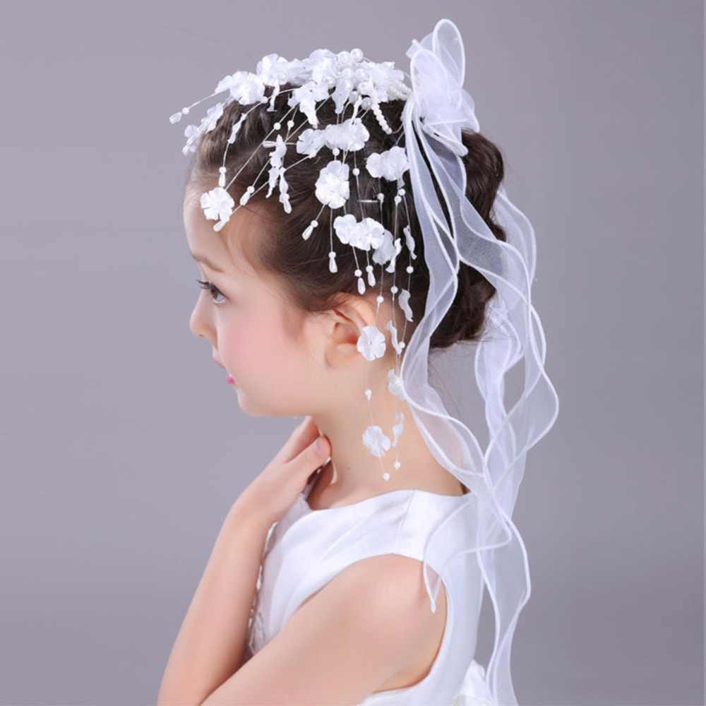 ff45db2586 Detail Feedback Questions about Floral Crown First Communion Veil ...