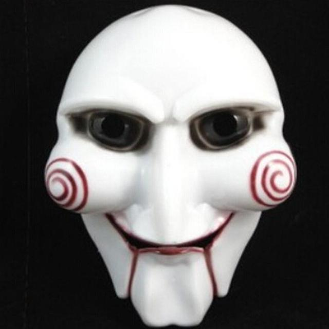 saw movie puppet halloween mask head creepy scary horror costumes prop mask cosplay clown doll fun - Puppet Halloween