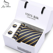 Necktie Handkerchief Cufflink Business Gift Box Sets New Brand Men Ties Causal Jacquard Woven Ties for Men High-grade Tie Set new brand men ties causal jacquard woven ties for men high grade gift box sets necktie handkerchief cufflink business tie set