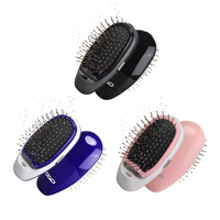 Ionic Electric Hairbrush Portable Electric Hair brush Negative Ions Hair Comb Brush Hair Modeling Styling Magic Beauty Hairbrush