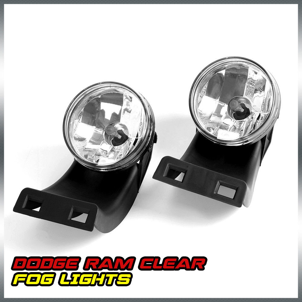 US Shipping Clear Lens Bumper Fog Lights Lamps Left+Right For 94-01 Dodge RAM 1500 2500 3500