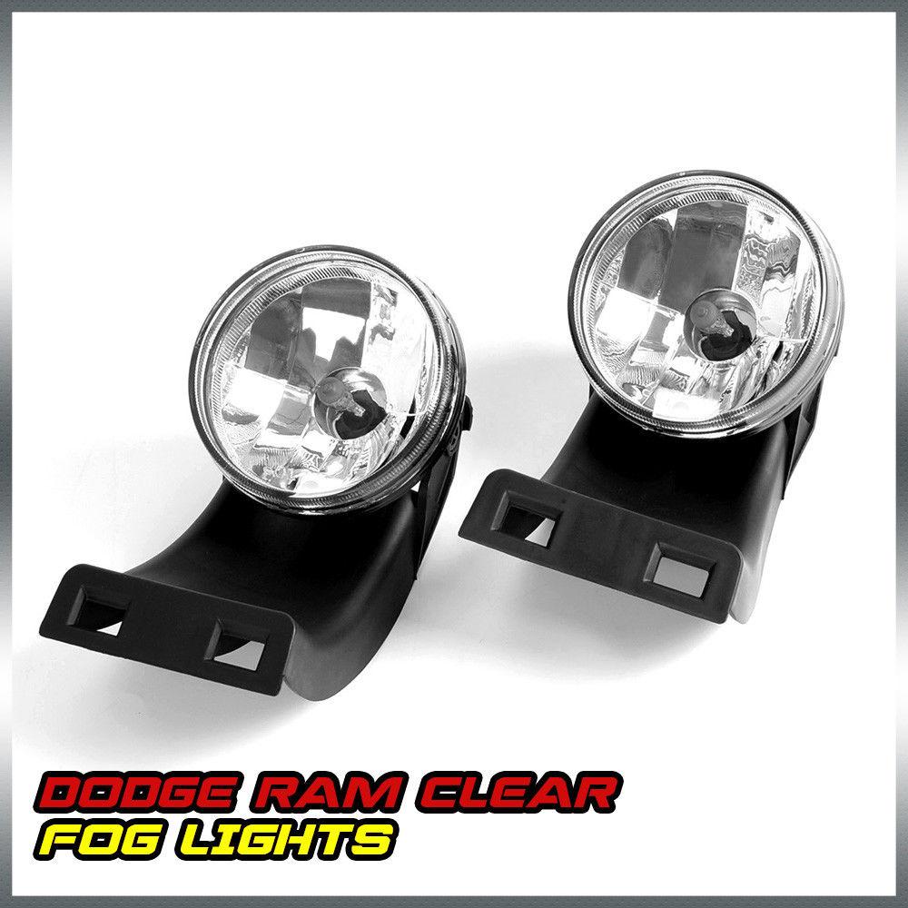 US Shipping Clear Lens Bumper Fog Lights Lamps Left+Right For 94-01 Dodge RAM 1500 2500 3500 xyivyg 2002 03 04 05 06 07 08 chrome abs mirror cover handle cover for 02 08 for dodge ram 1500 2500 3500