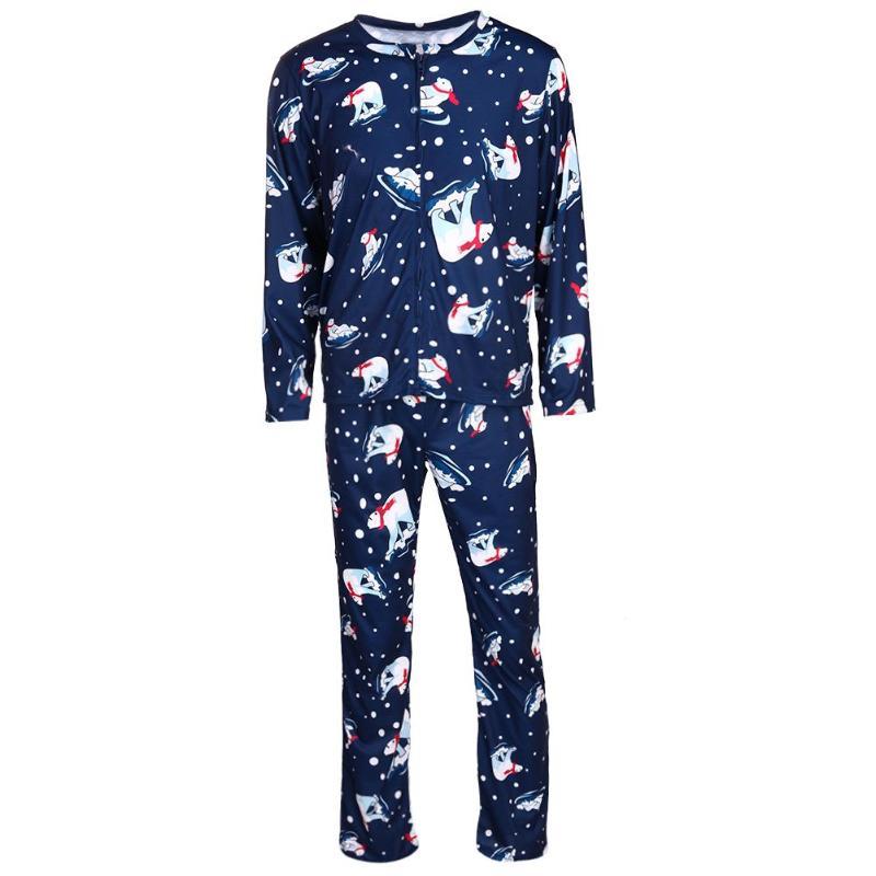 2 Stücke Weihnachten Pyjamas Set Digital Print Familie Passende Pyjamas Für Papa