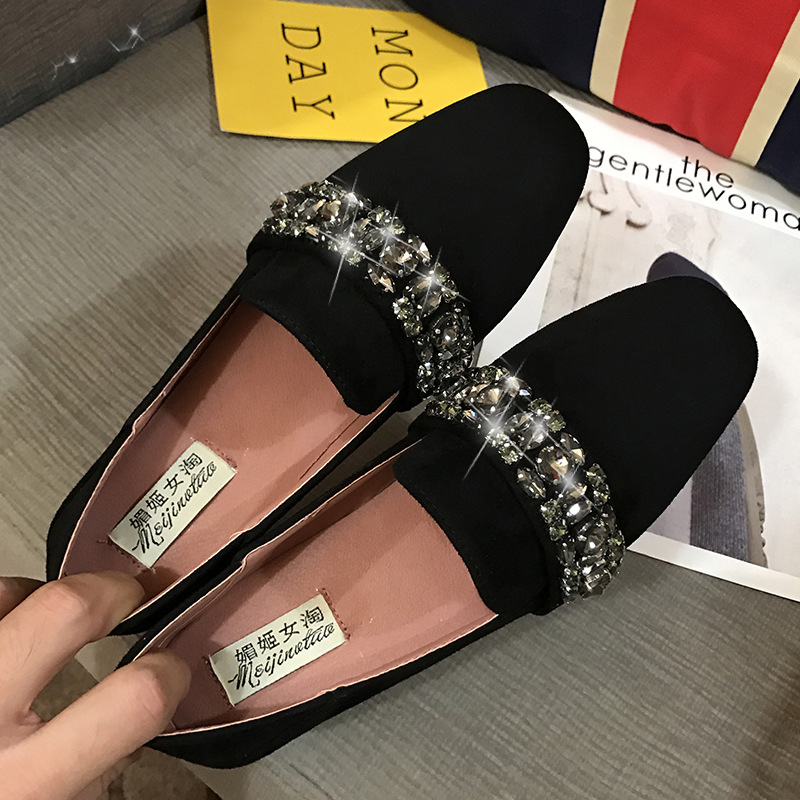 Plus Size Moccasins Women Shoes Fashion Rhinestone Flat Shoes Lightweight Breathable Loafers Lazy Flats Casual Zapatos Mujer все цены