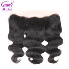Ariel Brazilian Body Wave Lace Frontal Closure 13*4 Free Part 100% Remy Human Hair Closure Natural Color