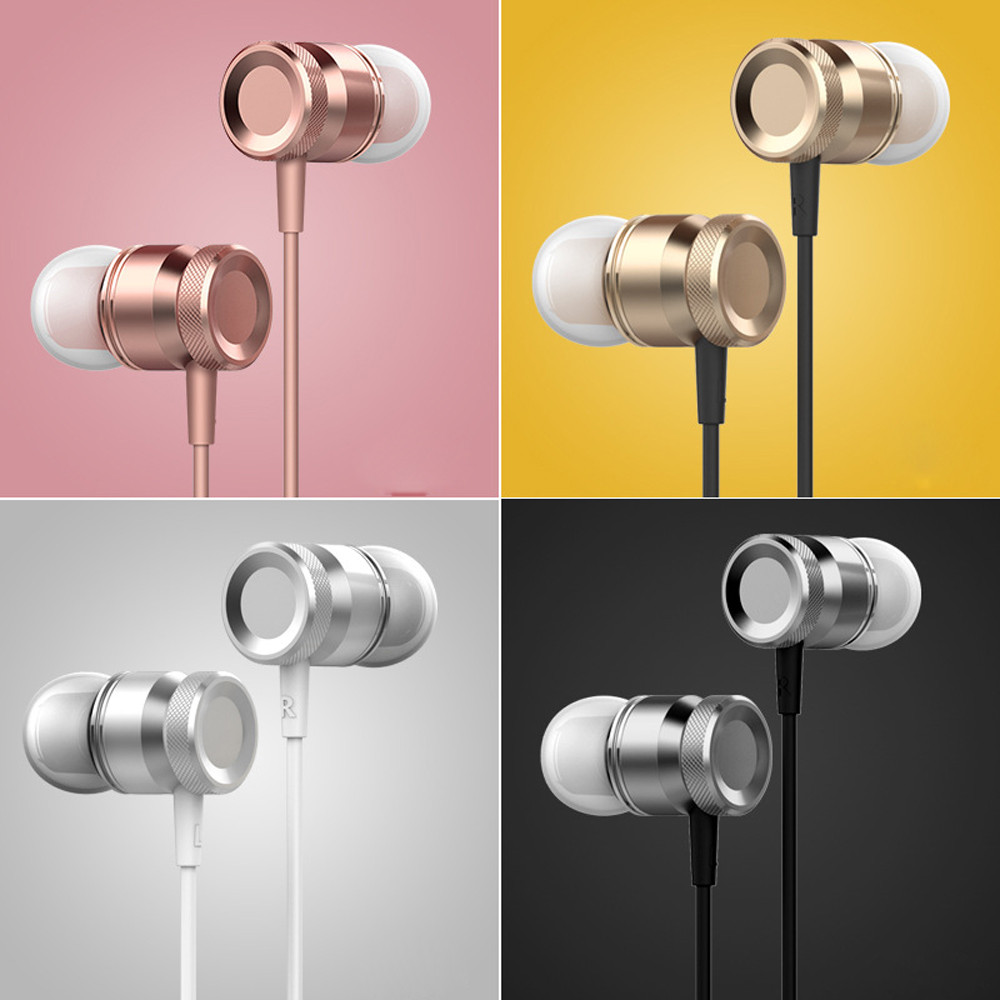 Heavy Bass Stereo In-Ear Music Earphone Earbuds In-Ear 3.5mm Quality  stereo Earphone Wired  with Microphone For ios android