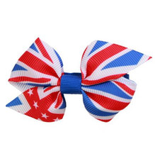 200pcs/lot British Fflag Navy Style Bow Hairpin Headdress Hair Accessories