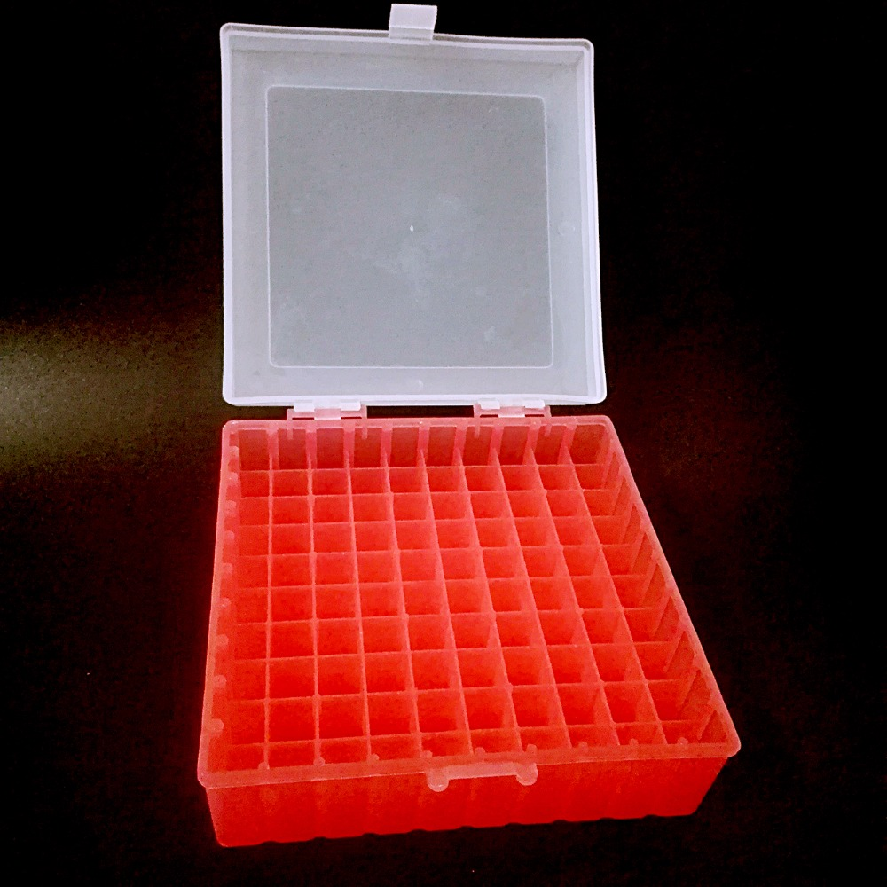 100 Holes, Plastic Tube Box Use For 1.5ml 1.8ml ,2ml, Tubes  With Connection Cover ,Easy To Cover And Open