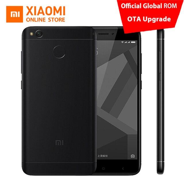 """Оригинальный Xiaomi Redmi 4X Pro 3 ГБ Оперативная память 32 ГБ Встроенная память мобильного телефона Snapdragon 435 Octa core Процессор 5.0"""" 13MP Камера 4100 мАч MIUI8"""