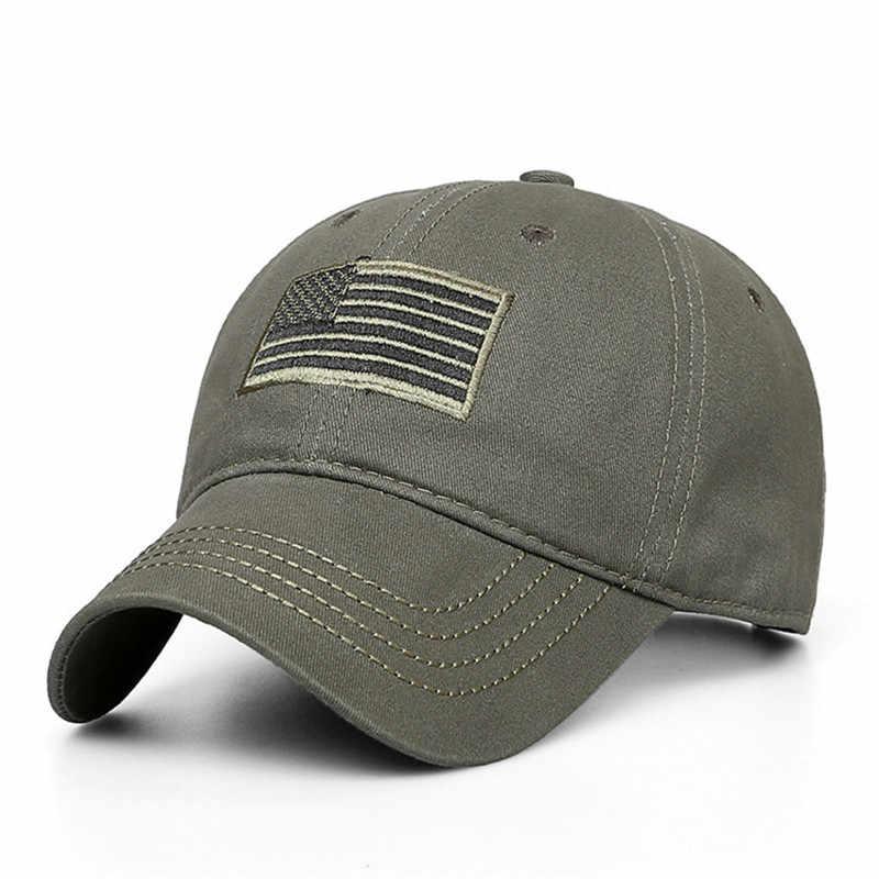 Новая модная камуфляжная бейсбольная кепка с флагом США для мужчин и женщин, тактическая бейсболка для папы Bone, Спортивная Кепка водителя-Дальнобойщика
