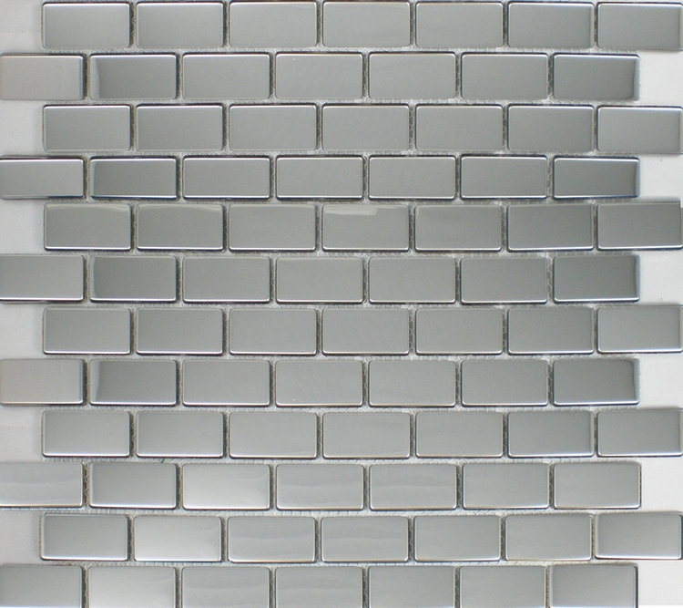 Pllaka mozaiku prej çeliku inox 20x40mm për pllaka mozaiku prej - Dekor në shtëpi - Foto 2