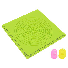3D Printing Pen Silicone Design Mat Template Drawing Tools With Finger Caps 170x170x3Mm Pad Geometric Figure