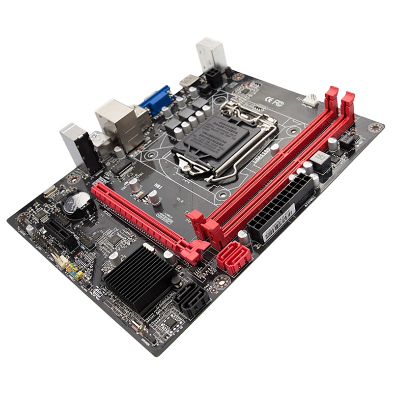 PPYY new-h81 ordinateur de bureau carte mère Socket Lga 1150 broches I3 I5 3470 4590 Cpu Super B85 micro-atx Uefi Bios