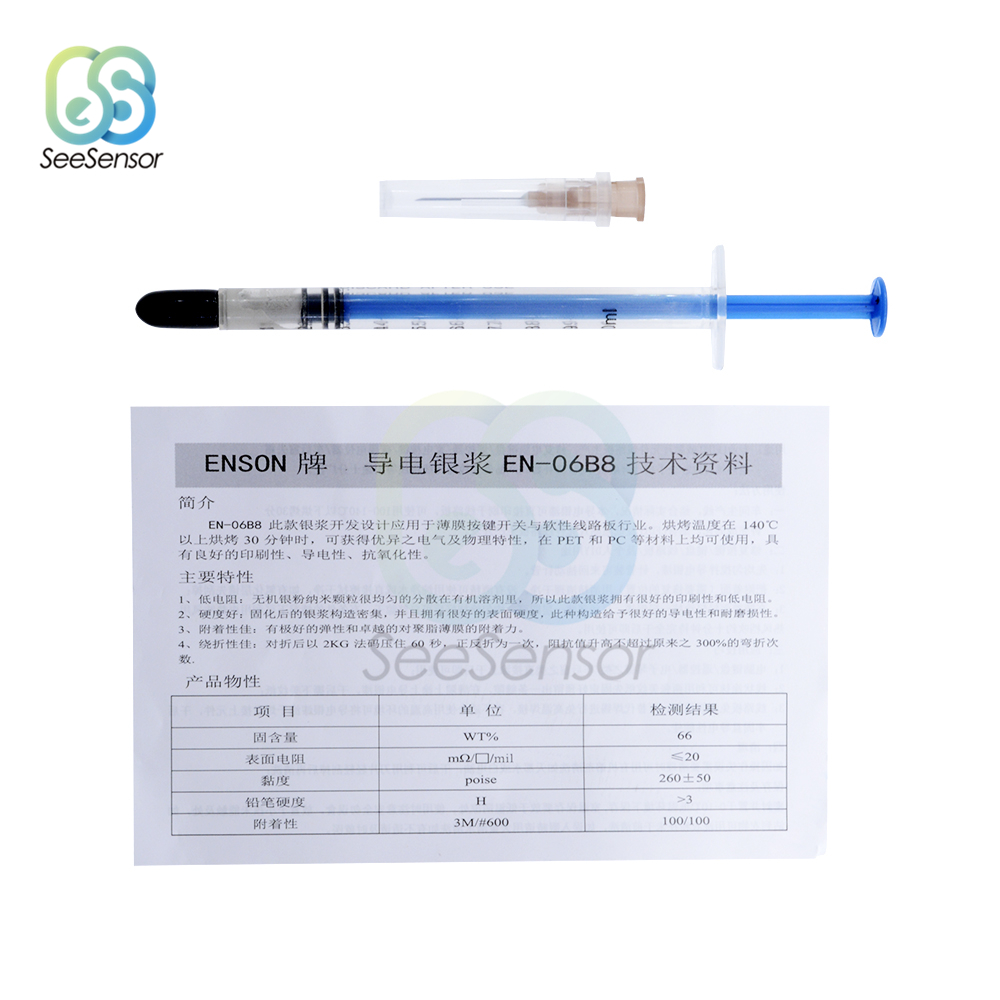 0 2ML 0 25ML 0 3ML 0 5ML Silver Conductive Paint Paste Wire Glue Electrically Conductive Glue Paste Adhesive Paint PCB Repair in Welding Fluxes from Tools