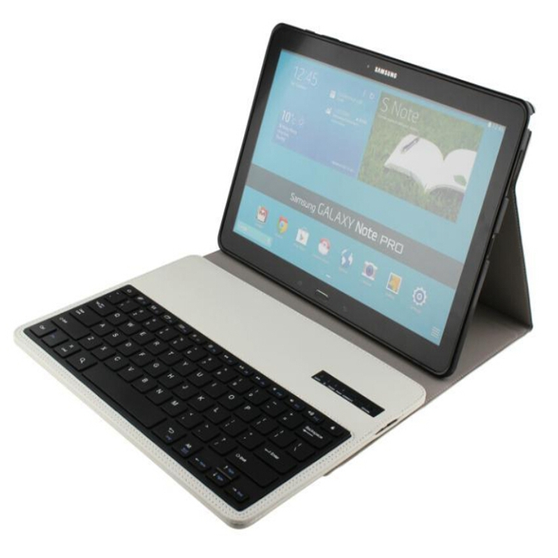 2 in 1 wireless bluetooth keyboard PU leather case cover with stand for samsung Galaxy note Pro 12.2 inch P900 P901 P905