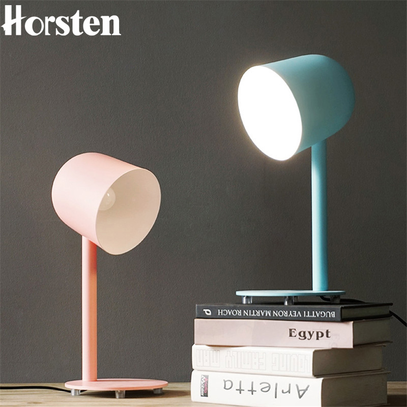 все цены на Modern Minimalist Art Desk Table Lamp Nordic Simple Multicolor Living Room Bedside Decorative Table Lamps Study Table Light E27 онлайн