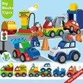 Nuevos grandes bloques de construcción 51 unids creativo cars autoblocante educativos ladrillos diy juguetes para los niños