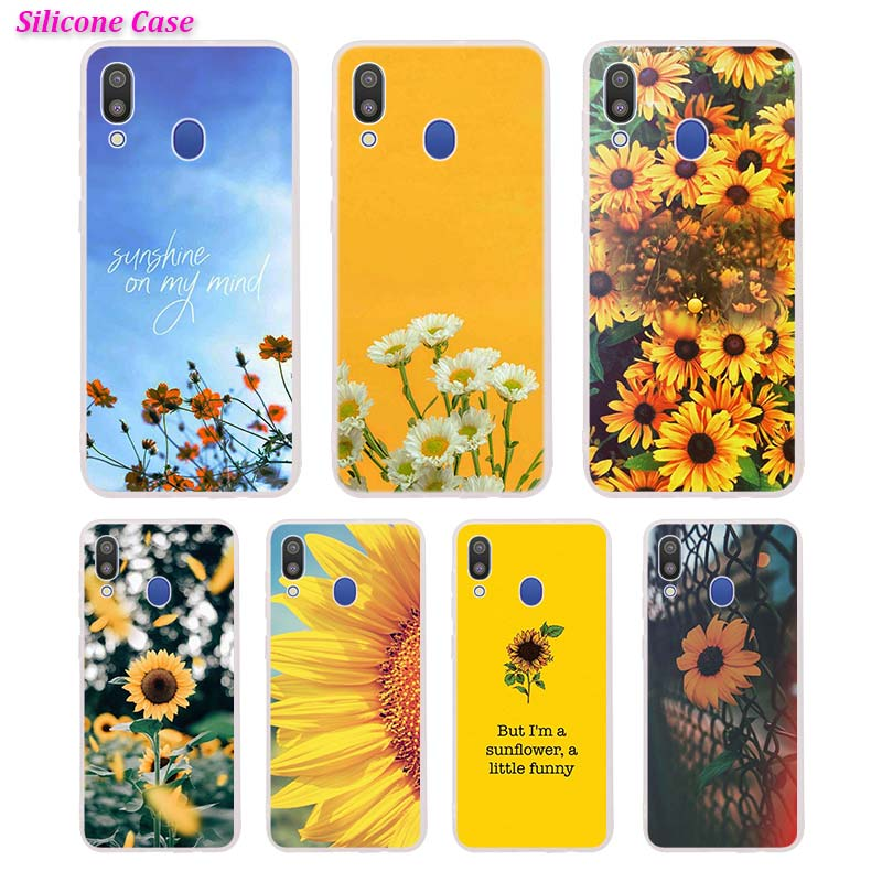 Silicone Phone Case Sunfowers fantasy show Printing for Samsung Galaxy A70 A50 A40 A30 Phone bag Cover image