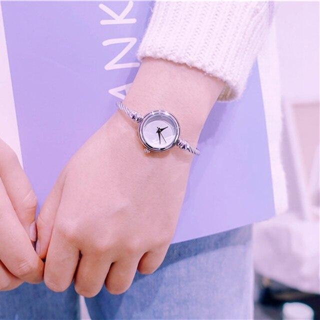 Elegant Ladies 2018 Bracelet Watch Women New Arrival Gold & Silver Strap Simple