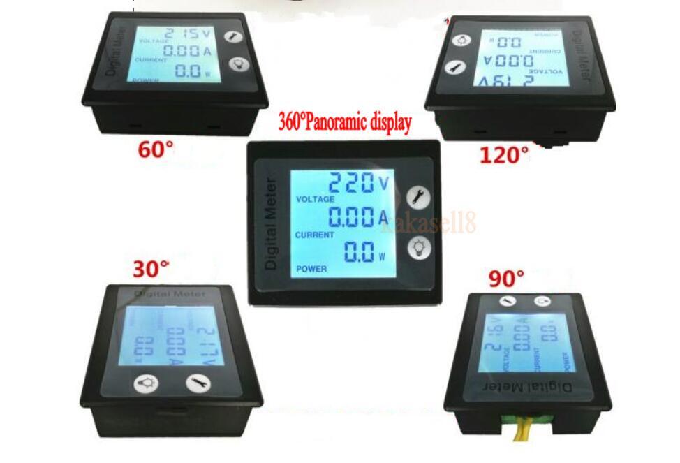 Ac Panel Meters : Ac a v digital lcd power panel meter