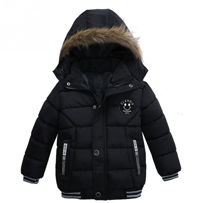 Clearance Fashion Winter boys kids thick cotton padded clothes Keep warm outwear baby boys kids Hooded long coat