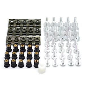 Image 4 - 40 Uds tornillos de carenado para parabrisas de motocicleta tuercas tornillos Kit de arandela Clips de sujeción y tornillos para honda CBR 600 F2,F3,F4,F4i CBR600RR