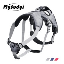MySudui Medium Big Dog Harness For Dogs Collars And Harnesses Car Reflective Secure Multi-Use Pet Large Vest