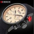 2016 nueva CURREN moda hombre relojes de primeras marcas de lujo del cuarzo de hombre fecha Auto militar reloj deportivo resistente al agua reloj de pulsera