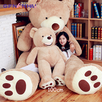 1pc 100cm American giant bear plush toy cute Teddy bear animal dolls stuffed soft toys for children girls birthday gift