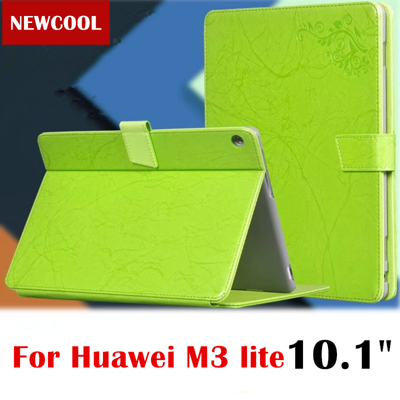 M3 Lite 10.1'' BAH-W09 BAH-AL00 Floral Print Leather case Flip Cover For Huawei MediaPad M3 Lite 10 10.0 tablet Case shell luxury pu leather cover business with card holder case for huawei mediapad m3 lite 10 10 0 bah w09 bah al00 10 1 inch tablet