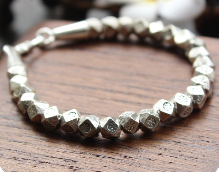 Thailand style Handmade silver Thai silver bracelet Restore ancient ways do old men and women lovers personality europe america japan south korea thai silver personality wild and simple men s and women s bracelet wholesale