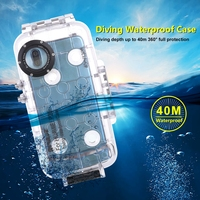 40m/130ft Waterproof Diving Housing Case for Huawei P20 Pro Photo Video Taking Underwater Cover Case for Huawei P20 P 20 Coque