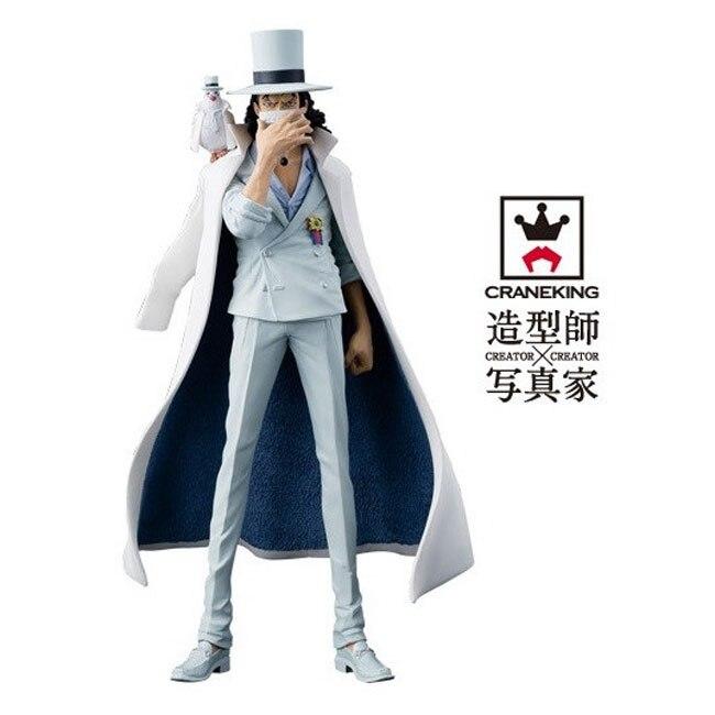 Anime One Piece Figure Rob Lucci Monkey D Luffy Craneking Original DXF Banpresto 22CM PVC Action Figure Rob Lucchi Figure Model