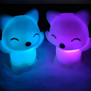 Fox-Night-Light Fox-Shape Bedroom Changing-Colors Hot-Sale Lovely Home 15 LED Desktop-7