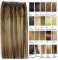 #4/27 envío libre 1 unids sistema de la cabeza completa clip en el Pelo humano remy Virginal Brasileño extensiones de cabello 26 colores disponible