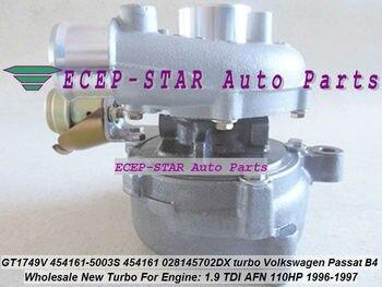 Kapal Gratis GT1749V 454161-0003 454161-0001 454161 028145702D Turbo untuk Volkswagen VW Passat B4 1.9 TDI AFN 1.9L 1996-97 110KW