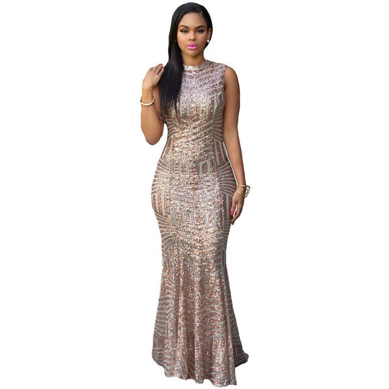 Robe dos nu élégante à pois Sequin rayé femmes Sexy robes de soirée tenue de club longue moulante robe argent Maxi robe