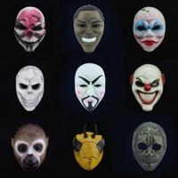 Payday 2 Mask Dallas Hoxton Chains Wolf Clown Obama Vespula Anonymous Vendetta Replica Props for Masquerade Cosplay Costume