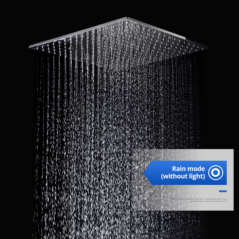 Fashion Thermostatic Shower Faucet 20 39 39 Complete Shower Set Overhead Big Rain Spray Square Mist Shower in Shower Faucets from Home Improvement