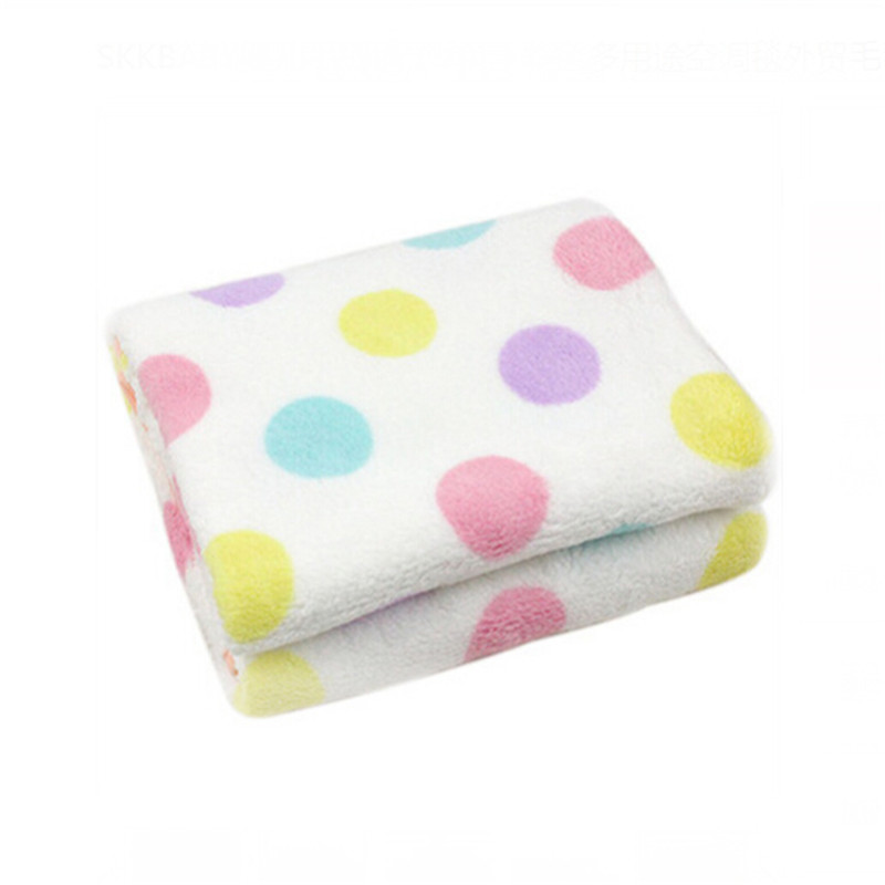Baby Blanket Soft Minky Bubble Dot Newborn Receiving Wrap Flamingo Infant Cover