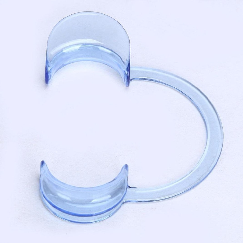 C-type мундштук Ортодонтическая открывалка для рта одноразовые открывающиеся зубные расширители для отбеливания зубов пластмассовая поддержка рта