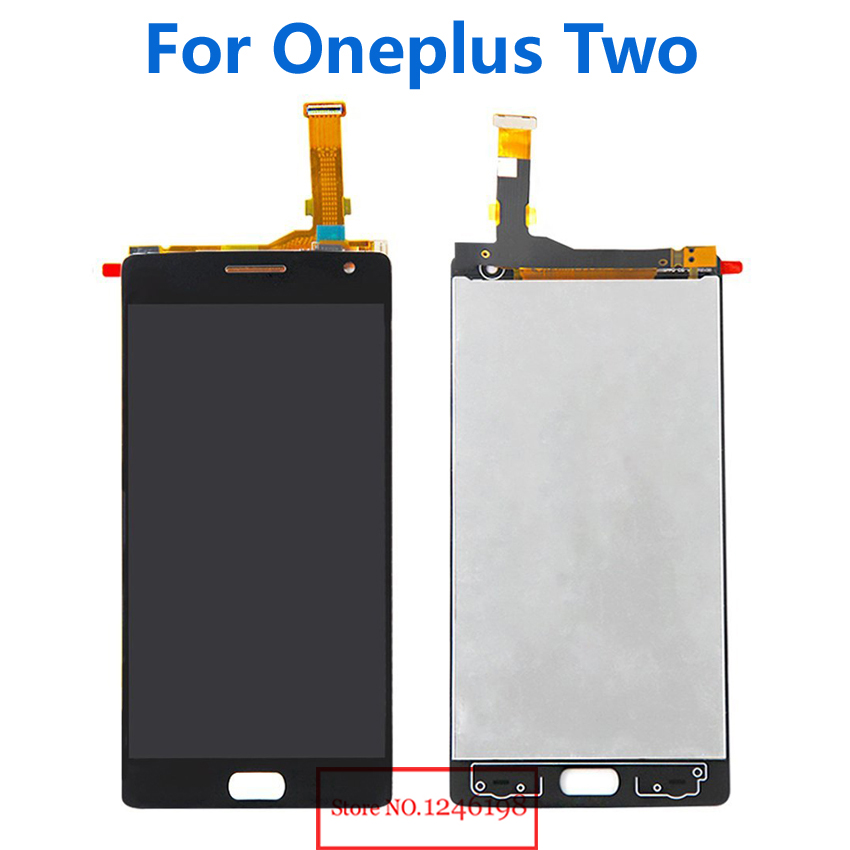 ФОТО TOP Quality OneplusTwo LCD Display + Touch Screen Digitizer Assembly For Oneplus Two/ Oneplus2 Smartphone Parts Free shipping