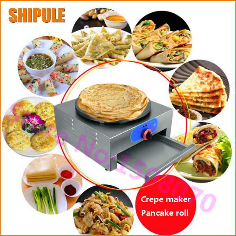 New conditioner 40 cm single plate LPG gas crepe maker machine commercial pancake roll machine price 1pcs new arrival 40cm pan pancake griddle stove lpg commercial pancake machine pancake stove ship to your home